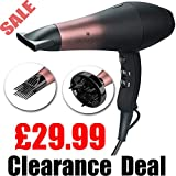 Wazor Professional AC Hair Dryer 1800W Far Infrared Hairdryer Ionic Blow Dryer