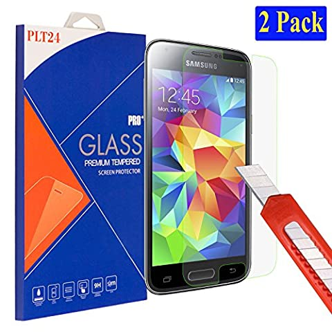 2x Samsung Galaxy S5 mini plt24 Ultra-Klar Glasfolie Panzerglas Schutzfolie Displayschutzglas Schutzglas Hartglas für Samsung Galaxy S5 mini (2 Stück)