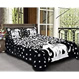 Pickerworld® Cotton 100% Black & White Color Elephant Tree Print Jaipuri King Size Double Bed Sheet With 2 Pillow Covers