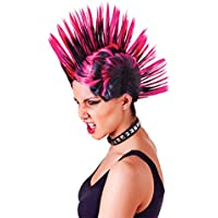 Bristol Novelty BW903 Mohican Female Wig, Womens, Pink/Black, One Size
