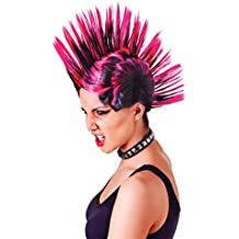 Bristol Novelty bw903Mohican mujeres peluca, color rosa/negro, talla única