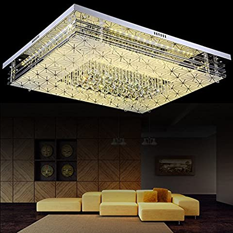 Quietness @ Loft Nordic Ceiling Lamp Contemporary Designer Creative Personality Lamps for Kids Bedroom Dinning Room Living Room Warehouse 3-color Dimmer+ remote control, rectangular60*40 /24W cm,