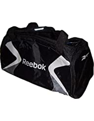 Reebok–Bolsa de deporte Bag Medium Grip Negro De Plata k31929tamaño aprox. 55X 30X 25CM