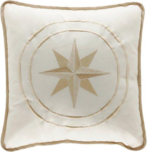 MB Coastal Designs North Star Überwurf Kissen gebrochenes weiß Galleyware Flags