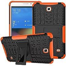 Funda para Samsung Galaxy Tab 4 7.0,XITODA Hybrid TPU silicone & Duro PC Protección Cover para Samsung Galaxy Tab 4 7.0 pulgadas SM-T230/T231/T235 Tablet Case Funda con Kickstand / Stand - Naranja
