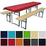 Tischdecke für Bierzeltgarnitur - 70x240 cm (für Tischbreite 50 cm) in Rot - Biertisch-Decke Festzeltgarnitur