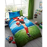 T&A Textiles and Hosiery Ltd Footballer Selfie Single Duvet Cover and Pillowcase Set
