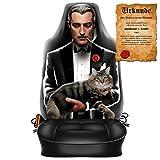 Scherzartikel - Sitzbezug für Autos Motiv The Godfather Gentleman - Boss lustige Geschenkidee Autositzbezug mit lustiger Urkunde