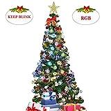 Lichterkette innen und außen mit 5M LED Kugel Glühbirne G40 RGB String Lights Wasserdicht für Deko Weihnachten,Garten, Hochzeit, Grill, Party, Festakt (12 Glühbirne+1 Ersatzbirnen+6Stk Haken)
