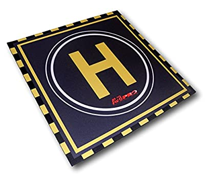 Landing Pad For Drones / Quadcopters / RC Helicopters - Perfect Mat For Safe Take Off And Landing - Use Helipad Anywhere From Grass & Mud To Sand & Gravel - Protects Your Drone And Camera - Great For Practising Your Helicopter Landing Skills - The Perfect