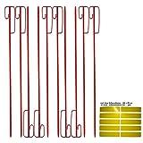 UvV Absperrhalter pulverbeschichtet Absperrleinenhalter Stahl, Set mit 10 Stück ink. 10 x UvV gelb - für Fangzaun, Flatterband, Warnband
