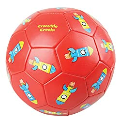 Crocodile Creek Kids Rockets Boxed Soccer Ball, Red, 3/7, 3/7/Red
