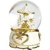 Non Rock Carrusel Caballo Musical de Navidad bola de cristal caja de lujo pequeño cambio de color luminoso giratorio