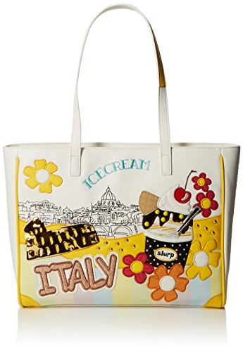 Tua by Braccialini Damen Cartoline Tote-Bag, Multicolore (Unico), 42x29x10 cm