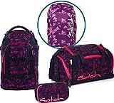 Satch Schulrucksack Set 4-TLG Pack Pink Bermuda Rosa