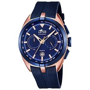 Reloj Lotus Cab.crono Dorado Rose Esf Azul 18190/2