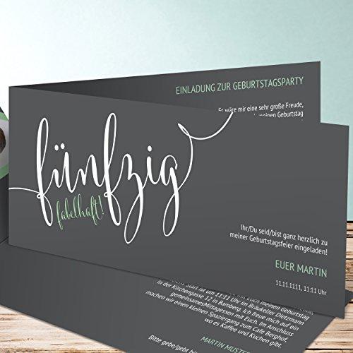Einladungskarten geburtstag 50 jahre fabelhafte f nfzig for Amazon einladungskarten