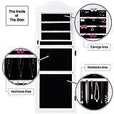 RULOTE-Armarios-de-joyero-con-espejo-RLT03-con-diseo-elegante-colgado-en-la-pared-o-la-puerta-inserto-de-terciopelo-negro-y-marco-exterior-blanco
