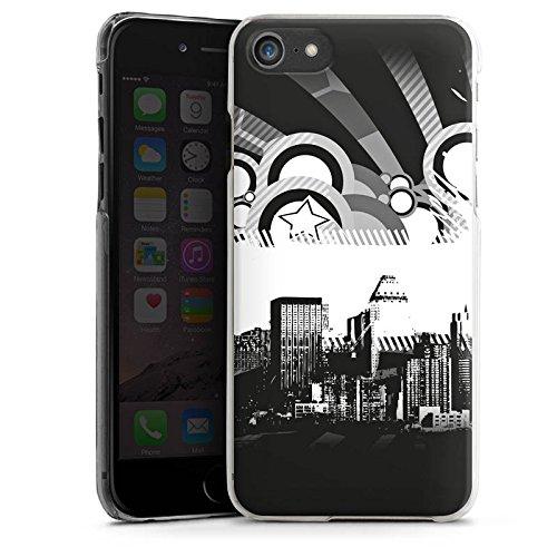 Apple iPhone X Silikon Hülle Case Schutzhülle Stadt Sterne City Hard Case transparent