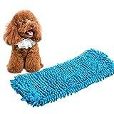 Hunde Bademantel Warm Haustierhandtuch - Schnelltrocknend Super Saugfähig Hundetuch mit Verstellbaren