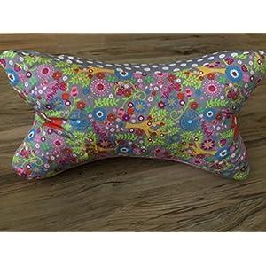 Leseknochen Nackenstütze Nackenrolle Buchstütze Relaxing Neck Pillow Tabletstütze Lagerungskissen Fuchs Füchse Bäume Sterne rosa grau