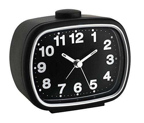 TFA Reloj Despertador electrónico Negro, Blanco