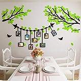 Alicemall Vinilos Arbol con Hojas Negro Pegatinas de Pared 1.75*2.3 m Murales Pared 3D para Sala de Estar Dormitorio Decorativo Hogar