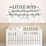 wandaufkleber 3d Boy Room Decor - kleine Jungen sollten nie ins Bett geschickt werden Kinderzimmer Wand Kunst Aufkleber - Kinderzimmer Aufkleber mit Pfeil-Sternen