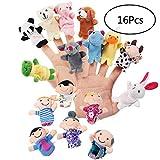 YueChen 16Pcs Marionetas de Dedo,Incluyen 10 Marionetas Animales +6...