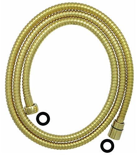 Duschschlauch Brauseschlauch 150cm Gold Knick Schutz Verdrehschutz aus Edelstahl dirks-traumbad