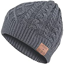Archos - Gorro de lana con auriculares Bluetooth integrados, color gris
