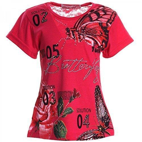 BEZLIT -  T-shirt - stile impero - Collo a U  - Maniche corte  - ragazza rosa 12 anni