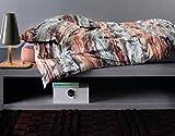 Bassetti Grandfoulard.- Bettwäsche Bellini V1, 220x220 cm + Spannbettücher 135x200 + 1 kissenbezug 45x145 cms in