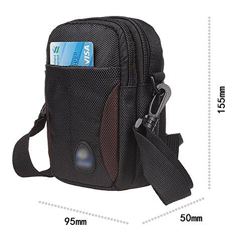 xhorizon marsupio sacchetto di sopravvivenza in Nylon con gancio per tracolla a fianco borsa con manico multiuso universale di grande capacità per viaggi all'aperto, campeggio, escursionismo #B Caffè