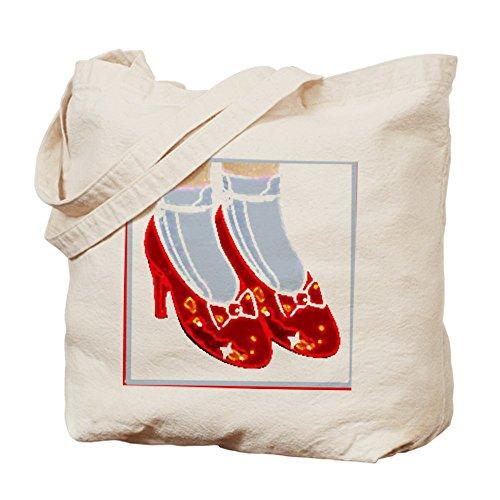CafePress–Rot Ruby Hausschuhe Tasche–Leinwand Natur Tasche, Reinigungstuch (Oz Of Red Wizard Slippers Ruby)