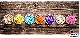matches21 Küchenläufer Teppichläufer Teppich Läufer Sommer Eis bunte Eisbecher auf Holz Holzoptik 50x120x0,4 cm maschinenwaschbar