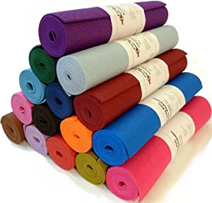 Yoga Mat .6x183 cm Extra Thick 14 Colors Non-Toxic PER Phthalate Free Clean PVC (TM) by Bean Products - Sunset Orange