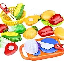 JUNGEN Juguete de Cocina Infantil ,juguete Frutas y Verduras, cocina de Niños Corte Juguete