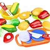 Monbedos pretend Play food Toys 12 pz Baby Kitchen Fruit Vegetable food Toy Education Toy giocattolo da cucina di