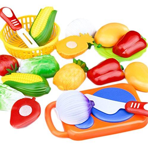 Atommy Juguetes de cocina para niños frutas y verduras en rodajas alimentos cocina de frutas juguetes para niños