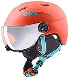 Uvex Visière Enfant Casque de Ski Pro S Orange-Petrol met Mat