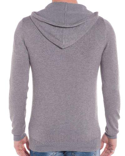 BLZ jeans - Pull homme gris clair uni Gris