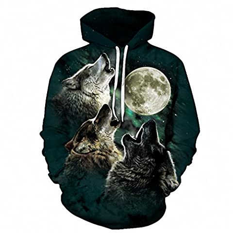 Wolf Pritned Men Women Hoodies 3D Hooded Sweatshirts Autumn Spring Pullover Fashion Tracksuits Animal Brand Quality Outwear LMS097 6XL