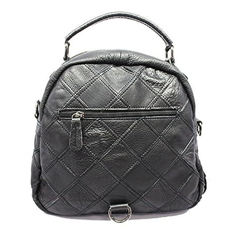 WANGWO High Quality Womens Genuine Cowhide Leather One-Shoulder Handbag Cross-Body Bag