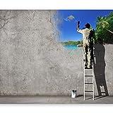 murando - Fototapete 350x256 cm - Vlies Tapete - Moderne Wanddeko - Design Tapete - Wandtapete - Wand Dekoration - Banksy 10110905-23