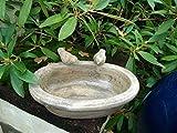 Dekorative, große Vogeltränke, Wasserstelle, Keramik, Keramik 30 cm