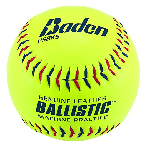 Baden Ballistic Leder Pitching Machine Softball, (One Dutzend) 30,5cm