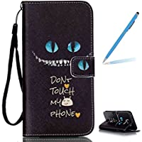 Trumpshop Smartphone Case Coque Housse Etui de Protection pour Samsung Galaxy S7 edge + Don't Touch My Phone (Impliquer) + Smartphonecoque Portefeuille PU Cuir Anti-Choc