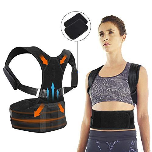 JTENG Haltungstrainer, Geradehalter zur Haltungskorrektur Körperhaltungs-Korrektor für Schulter Rückenstütze - Rückentrainer Gegen Nacken und Schulterschmerzen für Damen und Herren