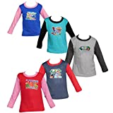 #9: Jisha Fashion combo of 5 assorted color and print full sleeves Tshirt